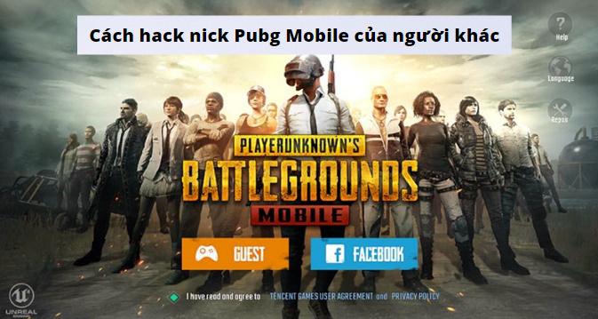 cách hack nick pubg mobile