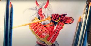 cách vẽ quỷ kiếm dạ xoa