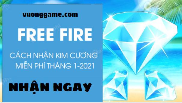cách nhận kim cương free fire