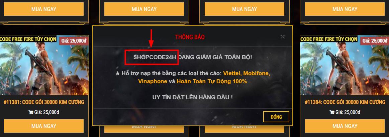 shop bán code liên quân lừa đảo